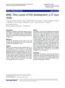 0894. Time course of VILI development: a CT scan study