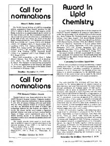 1980 Honored Student Awards