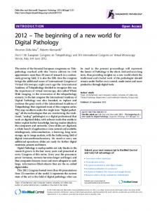 2012 – The beginning of a new world for Digital Pathology