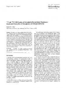31P and19F NMR studies of glycophorin-reconstituted membranes: Preferential interaction of glycophorin with phosphatidylserine
