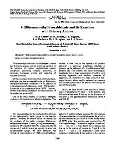 4-(dibromomethyl)benzaldehyde and its reactions with primary amines