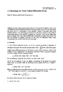 A cohomology for vector valued differential forms