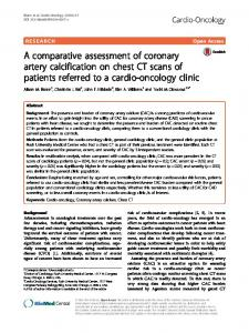 A comparative assessment of coronary artery calcification on chest CT scans of patients referred to a cardio-oncology clinic