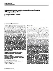 A comparative study on corrosion-resistant performance of halogenated copolymers