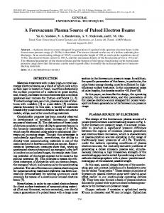 A forevacuum plasma source of pulsed electron beams