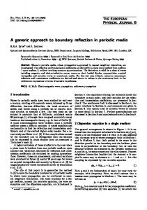 A generic approach to boundary reflection in periodic media