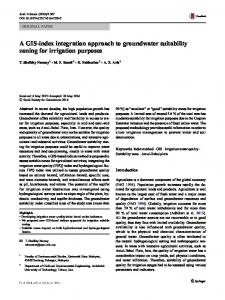 A GIS-index integration approach to groundwater suitability zoning for irrigation purposes