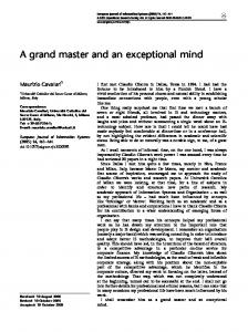A grand master and an exceptional mind