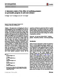 A laboratory study of the effect of confining pressure on permeable property in soil-rock mixture