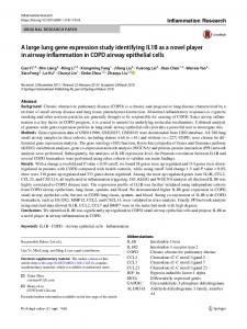A large lung gene expression study identifying IL1B as a novel player in airway inflammation in COPD airway epithelial cells