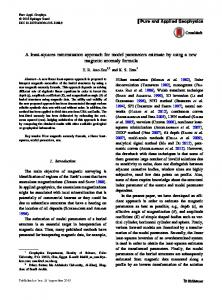 A least-squares minimization approach for model parameters estimate by using a new magnetic anomaly formula