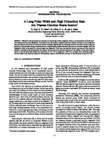 A long pulse width and high extraction rate arc plasma electron beam source
