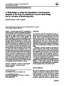 A Methodology to Assess the Degradation in the Structural Response of the Deck of a Reinforced Concrete Road Bridge due to Corrosion of Reinforcing Steel