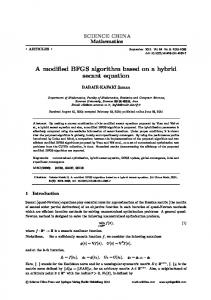 A modified BFGS algorithm based on a hybrid secant equation