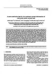A new constitutive law for the nonlinear normal deformation of rock joints under normal load