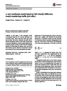 A new continuum model based on full velocity difference model considering traffic jerk effect
