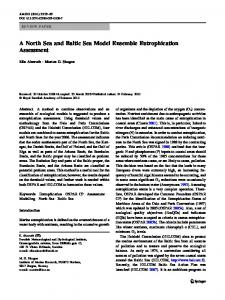 A North Sea and Baltic Sea Model Ensemble Eutrophication Assessment