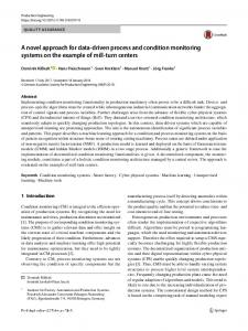 A novel approach for data-driven process and condition monitoring systems on the example of mill-turn centers