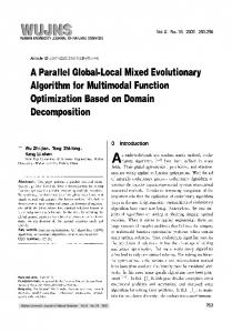 A parallel global-local mixed evolutionary algorithm for multimodal function optimization based on domain decomposition