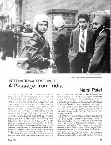 A passage from India