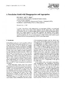 A percolation model with disaggregation and aggregation