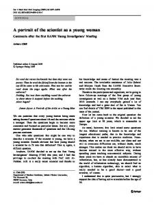 A portrait of the scientist as a young woman