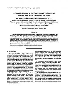 A possible linkage in the interdecadal variability of rainfall over North China and the Sahel