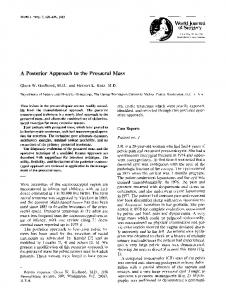 A posterior approach to the presacral mass