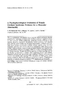 A psychophysiological evaluation of female urethral syndrome: Evidence for a muscular abnormality