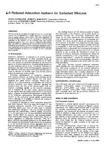 A reduced adsorption isotherm for surfactant mixtures