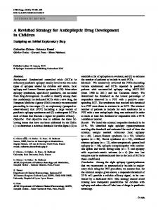 A Revisited Strategy for Antiepileptic Drug Development in Children