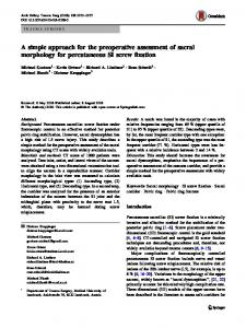 A simple approach for the preoperative assessment of sacral morphology for percutaneous SI screw fixation
