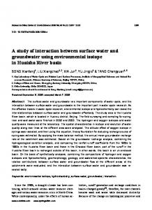 A study of interaction between surface water and groundwater using environmental isotope in Huaisha River basin