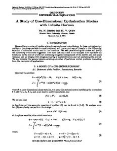 A study of one-dimensional optimization models with infinite horizon