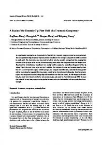 A study of the unsteady tip flow field of a transonic compressor