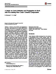 A Study on Crack Initiation and Propagation in Rock with Pre-existing Flaw Under Uniaxial Compression