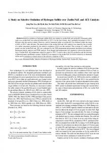 A study on selective oxidation of hydrogen sulfide over zeolite-NaX and-KX catalysts