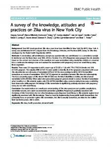 A survey of the knowledge, attitudes and practices on Zika virus in New York City