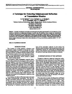 A Technique for Detecting Subpicosecond Reflection or Transmission Kinetics