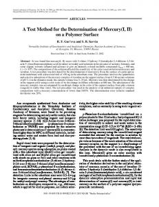 A Test Method for the Determination of Mercury(I, II) on a Polymer Surface