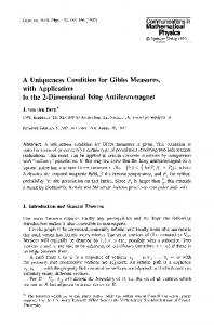 A uniqueness condition for Gibbs measures, with application to the 2-dimensional Ising antiferromagnet