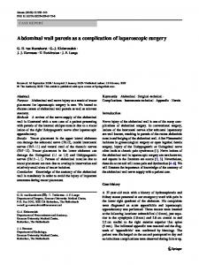 Abdominal wall paresis as a complication of laparoscopic surgery