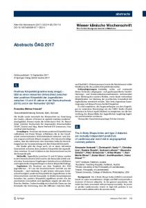 Abstracts ÖAG 2017