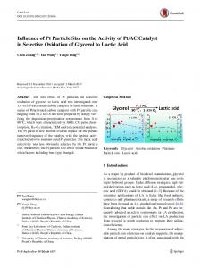 AC Catalyst in Selective Oxidation of Glycerol to Lactic Acid