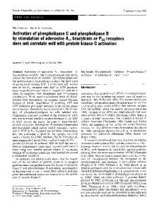 Activation of phospholipase C and phospholipase D by stimulation of adenosine A1, bradykinin or P2U receptors does not correlate well with protein kinase C activation