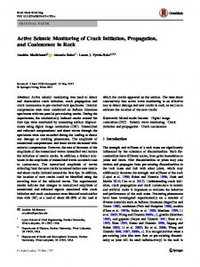 Active Seismic Monitoring of Crack Initiation, Propagation, and Coalescence in Rock
