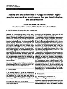 """Activity and characteristics of """"Oxygen-enriched"""" highly reactive absorbent for simultaneous flue gas desulfurization and denitrification"""