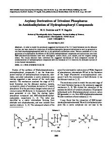Acyloxy derivatives of trivalent phosphorus in amidoalkylation of hydrophosphoryl compounds