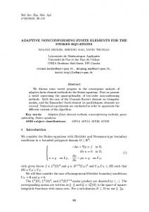 Adaptive nonconforming finite elements for the Stokes equations