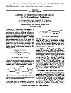 Addition of bis(trimethylsiloxy)phosphine to aryl-substituted acetylenes